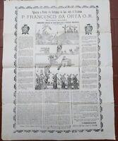 1900 MANIFESTO PADRE FRANCESCO DA ORTA CONTRO BARBARI MUSULMANI A GERUSALEMME