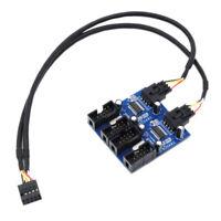 Eg _ Mâle 1 pour 4 Femelle 9Pin USB Entête Extension Câble Mère Hub Adaptateur C