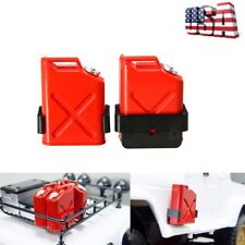 2Pcs 1:10 RC Rock Crawler Truck Cars Accessories Gas Cans With Brackets Decor US