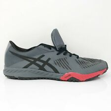 Asics Mens Weldon X S707N Gray Red Running Shoes Lace Up Low Top Size 11.5