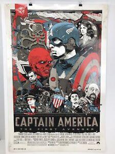 Tyler Stout Captain America The First Avenger Poster Mondo 2011 SDCC Offset