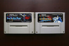 Super Famicom SFC Fire Emblem Monsho Nazo + Seisen Keifu Japan games US Seller