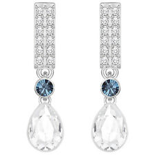 NWT NEW SWAROVSKI GAYLOR CRYSTAL PIERCED EARRINGS Blue White 5277456