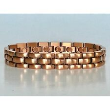 8.5  IN COPPER MAGNETIC BRACELET UNIQUE DESIGN WITH MAGNET EVERY LINK NEW 6451
