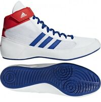 Adidas Havoc Wrestling Shoes Boxing Shoes Combat Sport Shoes White/Blue/Red