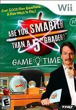 Are You Smarter Than a 5th Grader Game Time (Nintendo Wii, 2009) NEW
