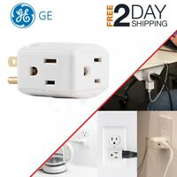 Wall Socket Splitter Divider Cube Electrical Multi Plugs 3 Outlet Power Adapter