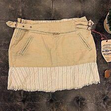 *NEW WITH TAGS* $175 DA-NANG Khaki-Stripped Skirt Size-XS