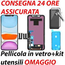DISPLAY TOUCH SCREEN LCD FRAME PER APPLE IPHONE 11 SCHERMO ORIGINALE NERO
