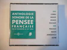 ANTHOLOGIE SONORE DE LA PENSEE FRANCAISE (CD N° 3 & 4 - Deleuze...) PORT GRATUIT