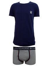 coordinato uomo boxer+t-shirt girocollo cotone elasticizzato NAVIGARE art. 11592