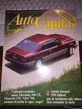 AUTOCAPITAL #8 1987 MASERATI 228/MERCEDES 300 CE/VOLVO 780/ATS/COUNTACH/RENAULT5