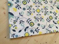 100 cm x 150 cm Scandinavian Cotton Fabric Floral Cotton Canvas Remnants