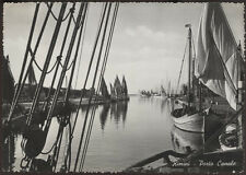 tarjeta postal RIMINI porto canal