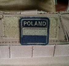 Polish ARMY FLAG POLAND patch camo 40x40 special force GROM