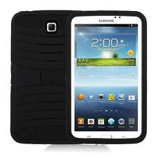For Samsung Galaxy Tab 3 7.0 Tablet Hybrid Black Combo Box Case w/ Stand + Pen