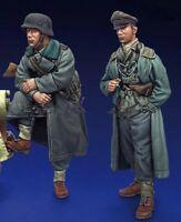 1:35 1/35 WW2 German Military Police Soldiers Resin Figure Model Kit (2 Figures)