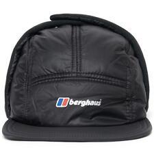 New Mens Berghaus Ignite II 2 Black Pertex Insulated 5 Panel Trapper Cap Hat S/M
