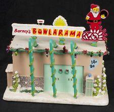 Simpsons Hawthorne Village Christmas Barneys Bowl a Rama COA