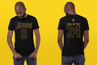 KOBE BRYANT T SHIRT Tee Black Mamba Los Angeles Lakers 8 24 T-Shirt Size S-4XL