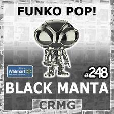 FUNKO POP VINYL AQUAMAN BLACK MANTA #248 CHROME WALMART EXCLUSIVE DC COMICS