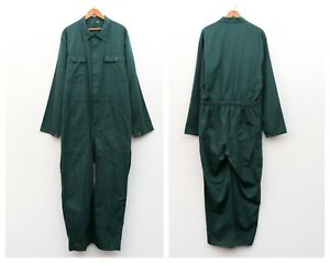 WORK OVERALLS Vtg Men's 2XL French Worker Cotton Coverall Jump Suit Bibs