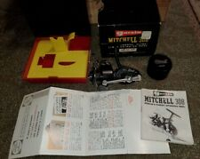 Great 1960-70s Mitchell 308 Reel-Case, Slip box, Paperwork-New