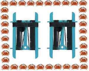 2 x BLUE Crabbing Crab 11m Fishing Line & Bag Net  - Child Safe NO HOOK TY3744