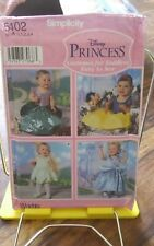 Simplicity 5402 toddlers costume pattern Disney princess Halloween sz 6m-4 NEW