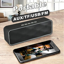 Bluetooth Mini Speakers Wireless Rechargeable Outdoor Stereo Bass Smartphone Pad