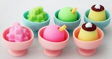 Pig Eraser Made in Japan 6pcs Ice Cream Pencil Erasers by EPC (Japan Import)
