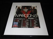 2015 Maroon 5 World Tour Framed 11x14 Original Advertisement
