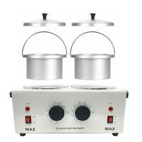 Dual Wax Warmer Electric Heater Pot Facial Skin Care Depilatory Machine US