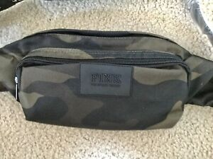 Victorias Secret PINK Large Camo Waist Fanny Pack Hiking Camouflage NEW!