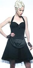 *Lip Service Black Devil Dolls III Halter Top Bustier Pinup Lolita Rockabilly L