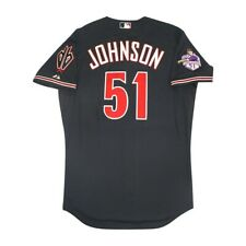 Randy Johnson 2015 Arizona Diamondbacks Authentic On-Field Alt Black Jersey 48