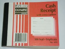 Olympic Cash Receipt Book with extra carbon 100 leaf Triplicate 105x125mm No.615