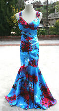 NWT BLONDIE NITES $140 Blue / Red Evening Prom Gown 9