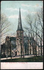 HARRISBURG PA Pine Street Presbyterian Church Antique Postcard Old Vtg Town View