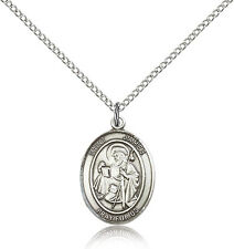 Saint James The Greater Medal For Women - .925 Sterling Silver Necklace On 18...