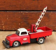 VINTAGE SSS JAPAN TIN LITHO WRECK TOW TRUCK FRICTION TOY CAR S1954