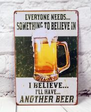 BEER Plate Vintage Tin Signs beer Man Cave Home Pub Bar Wall Decor