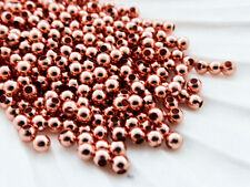 100 x 3mm Brass Rose Gold Round Spacer Beads, Supplies, Findings Bead     (MB79)