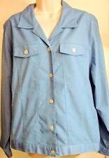 KORET Francisca Botanica Cornflower Blue Cotton Twill Casual Jacket 18 W, NEW