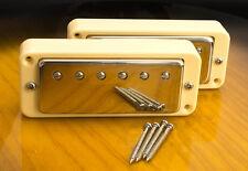 Mini Humbucker Conversion Set For P90 Cutout-4 Wire For Coil Tap - Cream