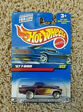 New Hot Wheels - '57 T-Bird - Collector #217 - #29272- Purple w/Yellow and Green