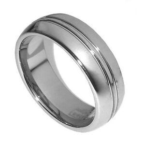 Vogue Men's 8mm Tungsten Carbide Anniversary Wedding Chic Ring Wedding Band