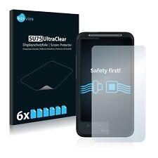 6x Displayschutzfolie HTC Desire HD A9191 Schutzfolie Klar Folie Displayfolie