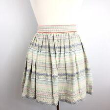 Zara Trafaluc Striped Multicolor Tweed Skirt Women's Size Small Above knee