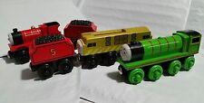 Thomas & Friends Wooden Railway Diesel 10, Henry, James w/ Tenders Trains